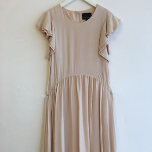 Cynthia Rowley Antique Rose Silk Full Length Dress